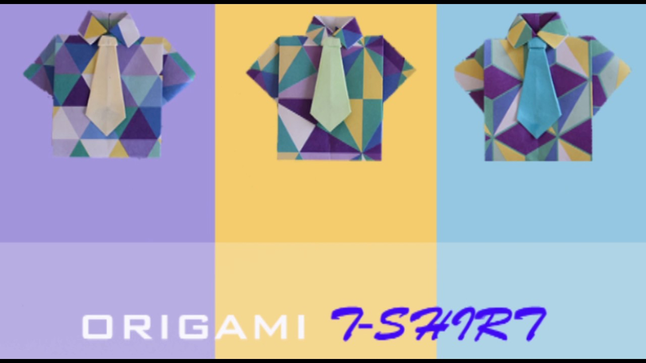 Origami T Shirt With Tie Origami T Shirt Tie How To Fold An Origami T Shirt Tie