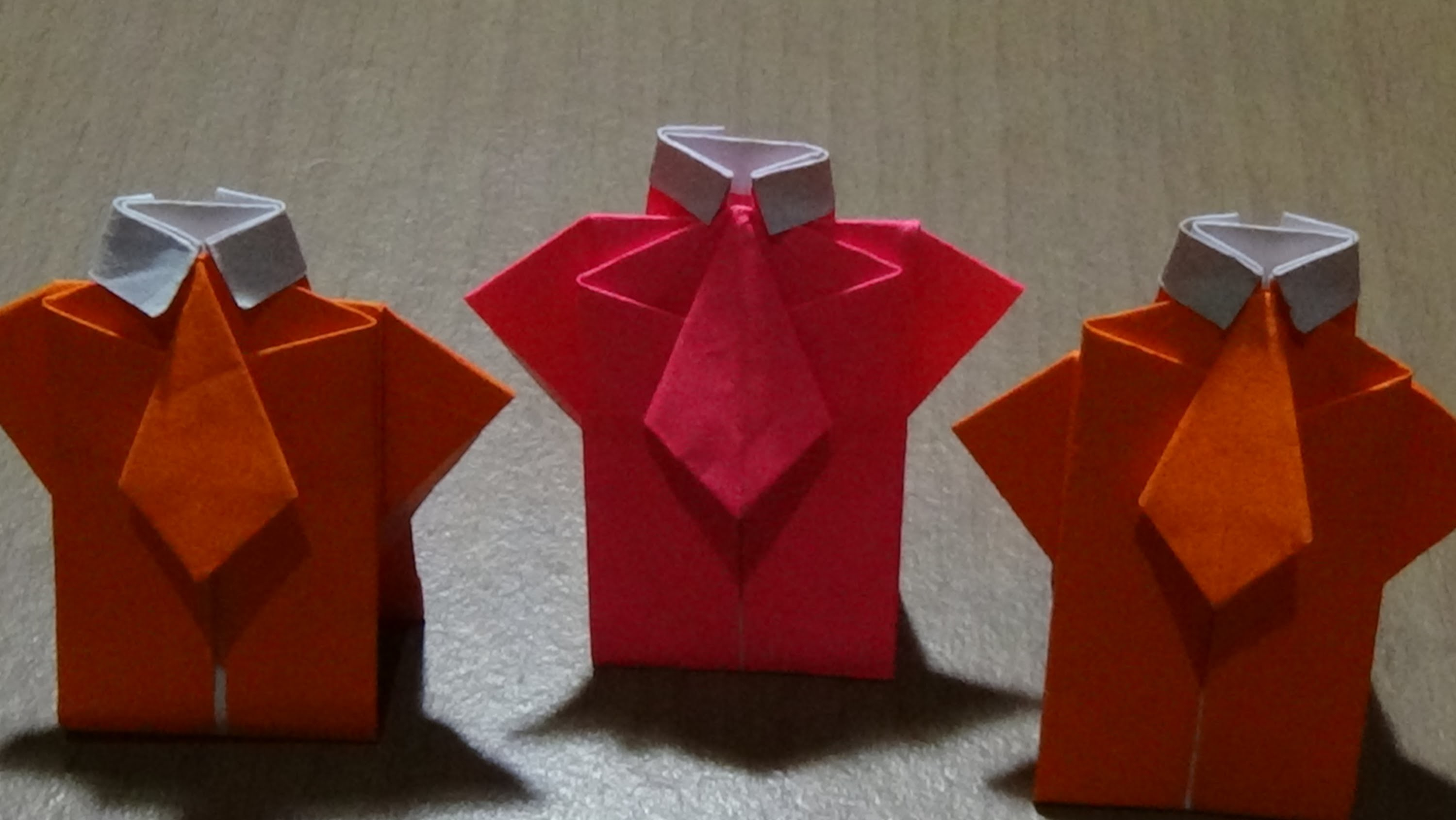 Origami T Shirt With Tie Origami Tshirt And Tie Ll Ll Origami Baju