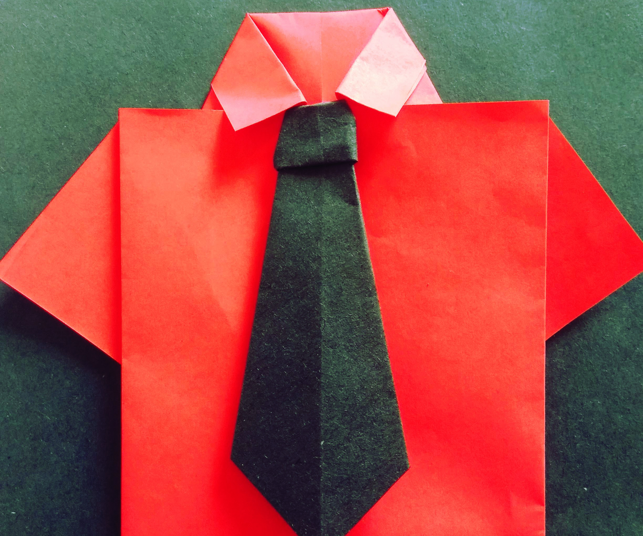 Origami T Shirt With Tie Origiami T Shirt And Tie 4 Steps