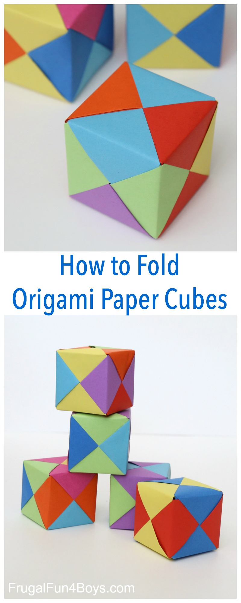 Origami Things For Kids How To Fold Origami Paper Cubes Frugal Fun For Boys And Girls