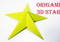 Origami Things For Kids How To Make A 3d Paper Star Easy Origami For Kids Origami Things