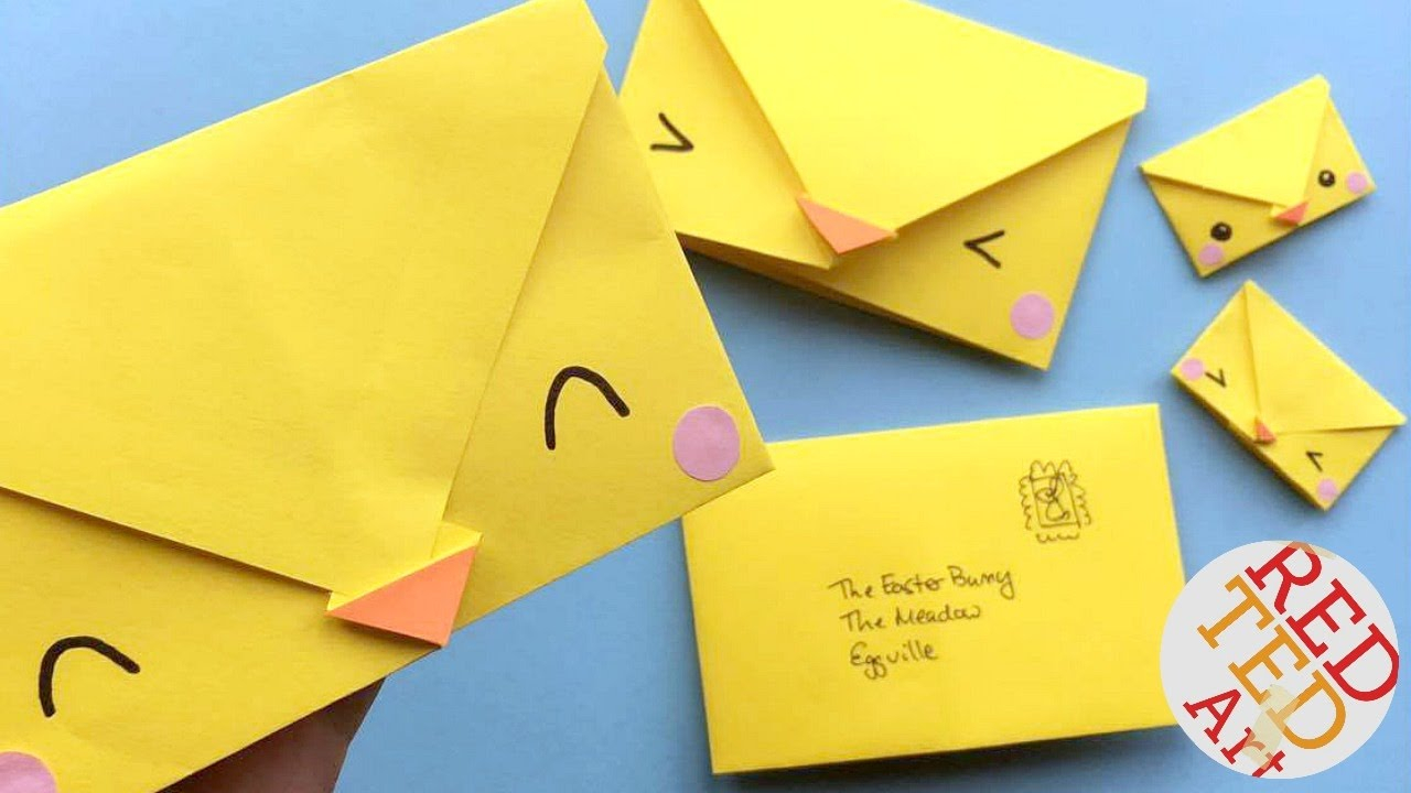 Origami Things For Kids Origami Envelope Chick Paper Crafts For Kids Red Ted Art