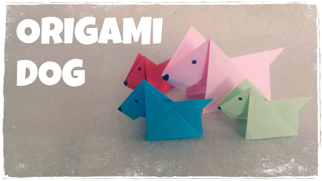 Origami Things For Kids Origami For Kids Origami Dog Tutorial Very Easy