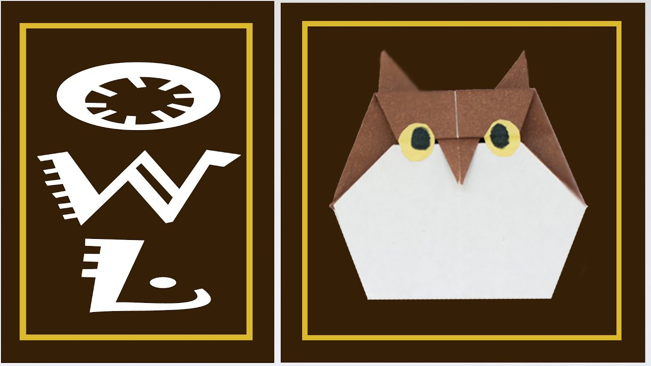Owl Origami Easy Easy Origami Owl How To Make Paper Birds