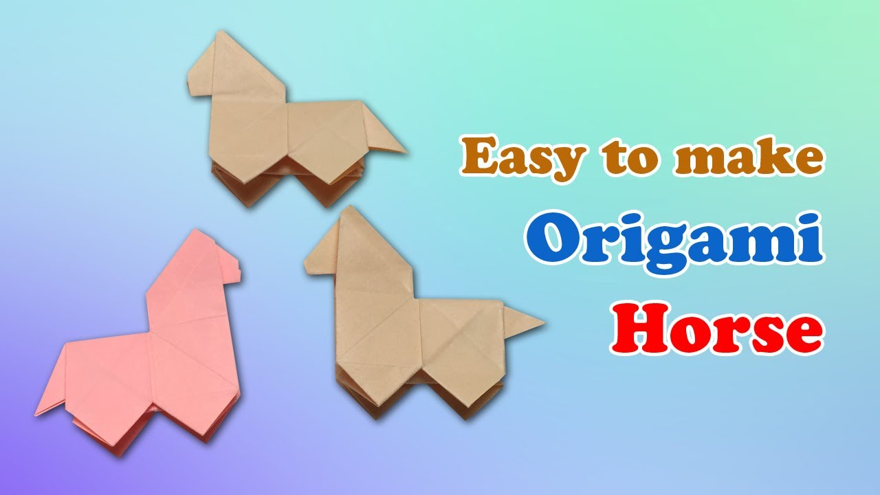 Owl Origami Easy How To Craft An Origami Horse Instructions Fold Paper Horse With Easy Origami Owl Step Step