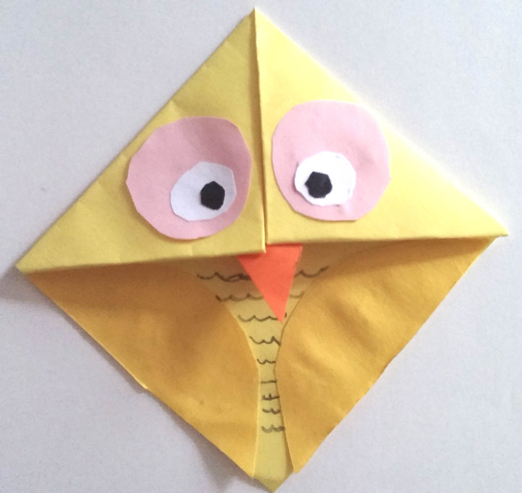 Owl Origami Easy How To Make An Easy Paper Owl Bookmark Imagine Forest