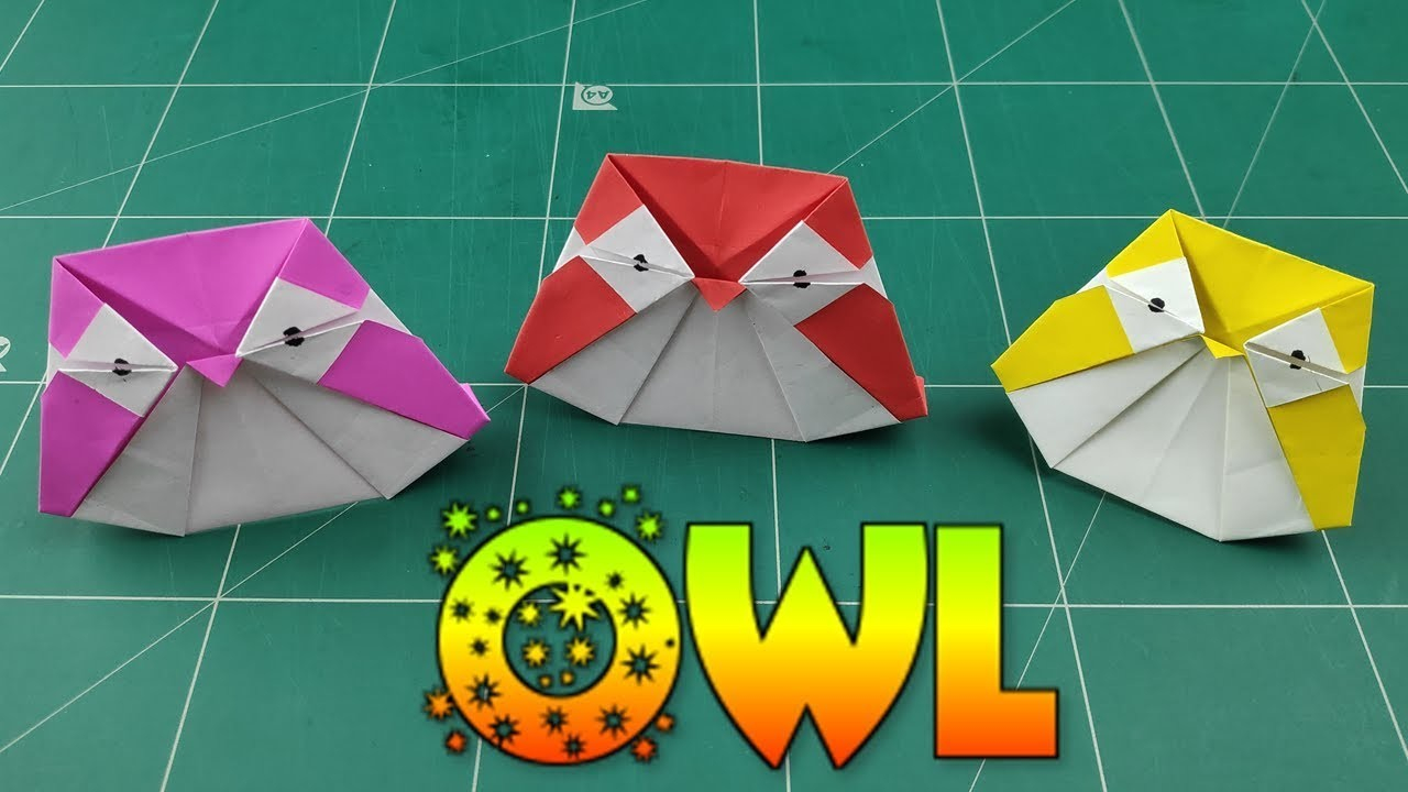 Owl Origami Easy How To Make An Origami Owl For Kids Diy Easy Owl Paper Tutorial