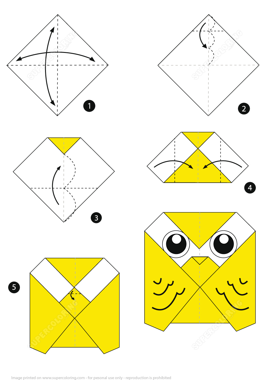Owl Origami Easy How To Make An Origami Owl Step Step Instructions Free