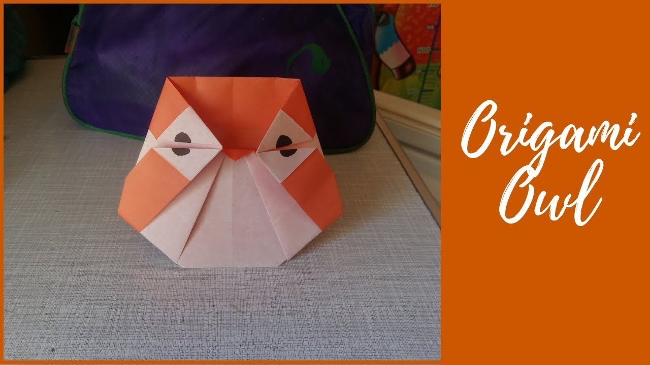 Owl Origami Easy Origami Owl Easy And Cute Origami For Kids