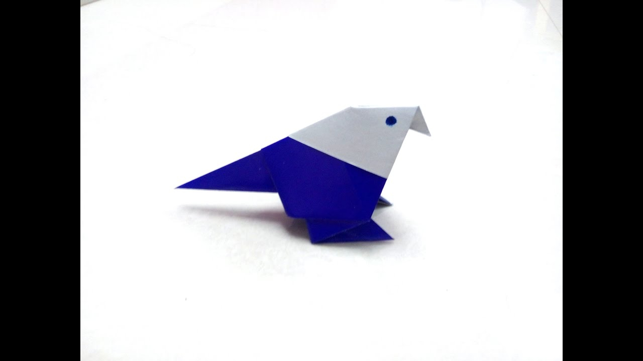 Paper Bird Origami How To Make An Origami Paper Bird 1 Origami Paper Folding Craft Videos And Tutorials