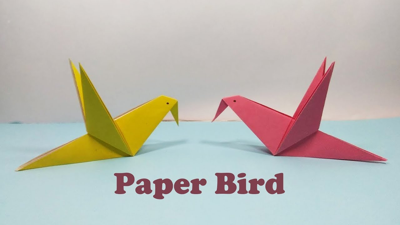Paper Bird Origami How To Make Diy Simple And Easy Paper Bird Origami Fapping Bird Tutorial