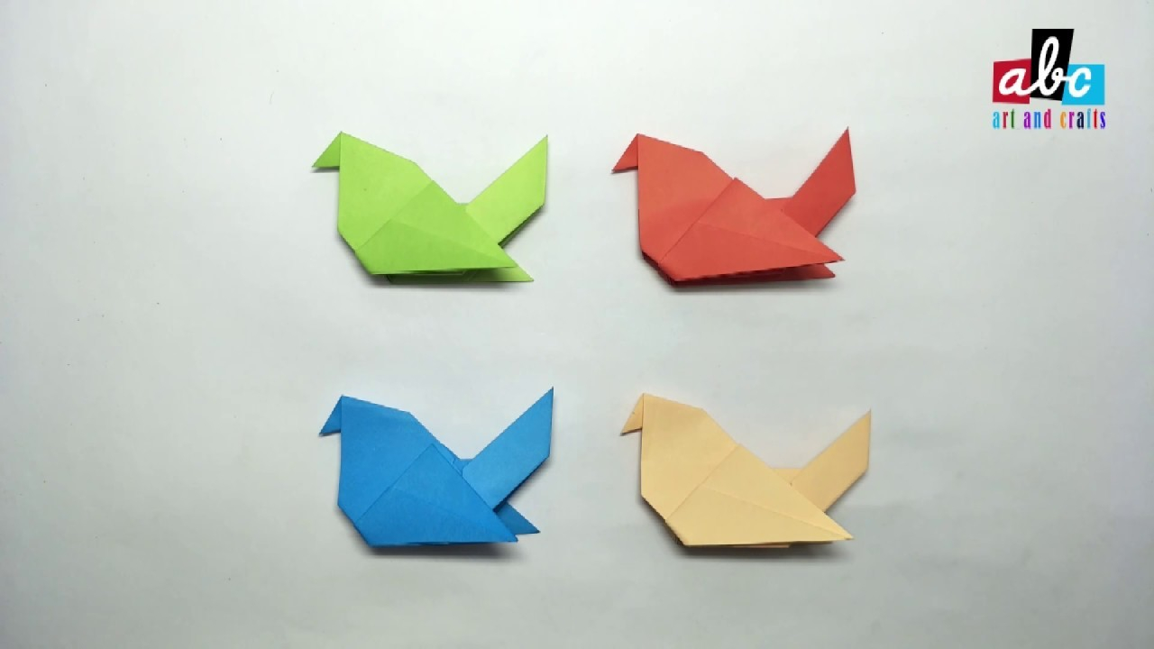 Paper Bird Origami How To Make Origami Paper Bird
