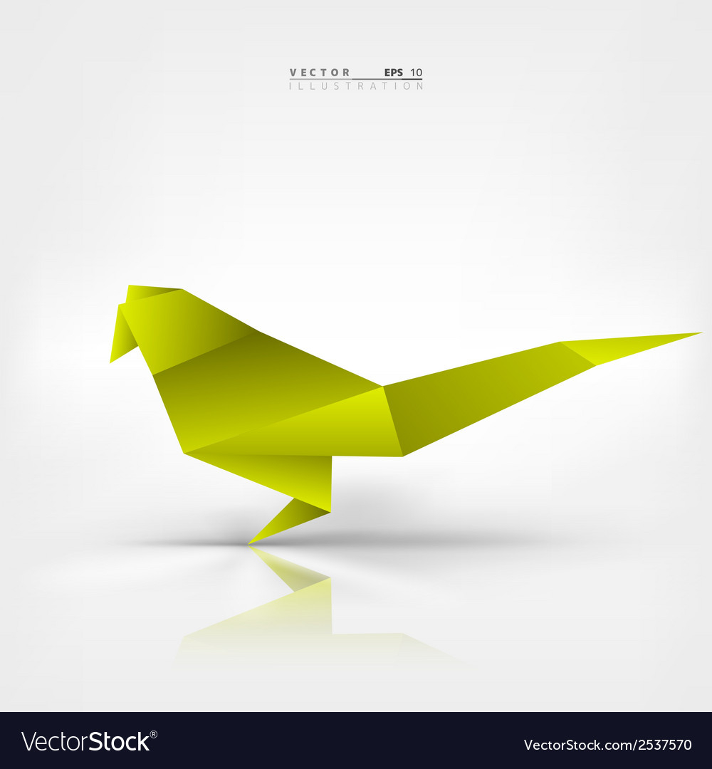 Paper Bird Origami Origami Paper Bird On Abstract Background Vector Image On Vectorstock