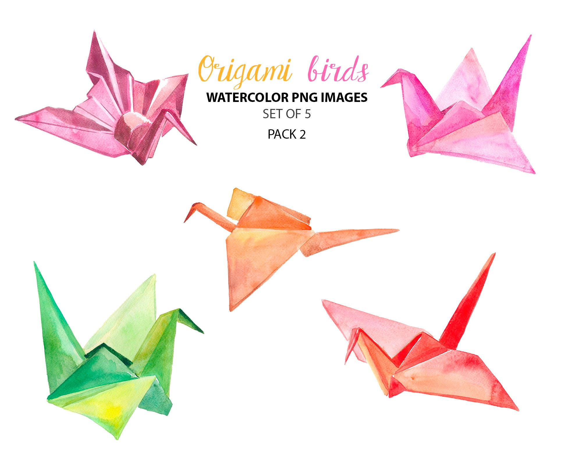 Paper Bird Origami Paper Birds Clipart Origami Clipart Watercolor Images