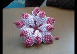 Paper Flower Origami 3D Model 3d Origami Flower Tutorial Model1