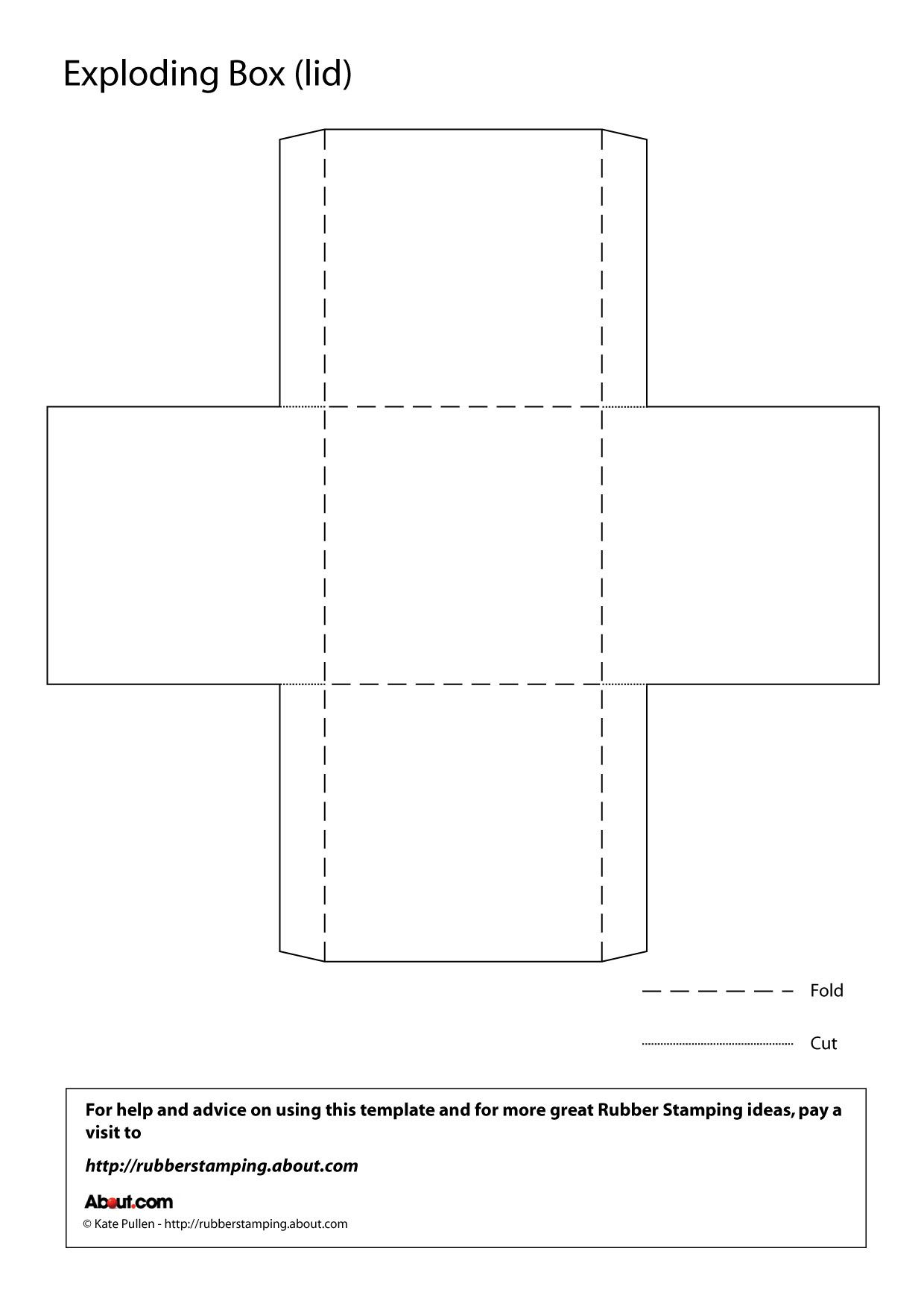 Printable Origami Box Instructions Make An Exploding Box With This Free Printable Template