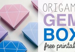 Printable Origami Box Instructions Origami Crystal Box Free Printable Tutorial Diy