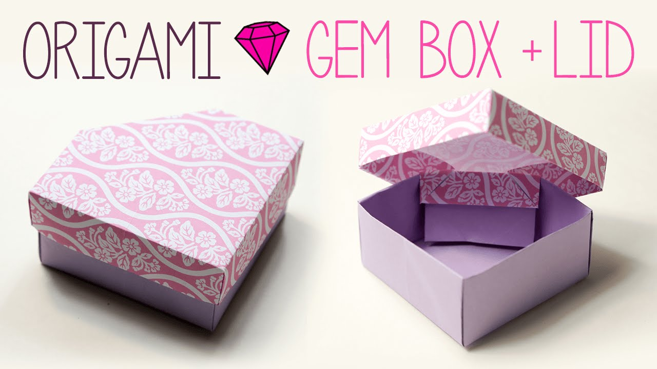 Printable Origami Box Instructions Origami Gem Box With Lid Diy