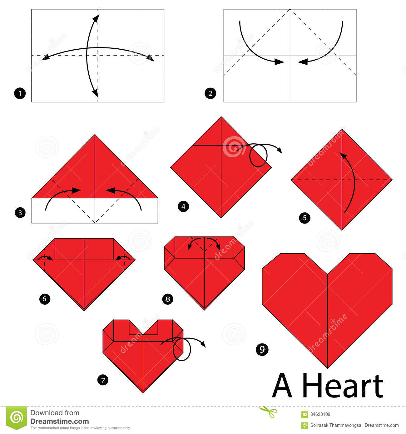 Puffy Heart Origami 39 Paradigmatic Guides Instructions For Origami Heart