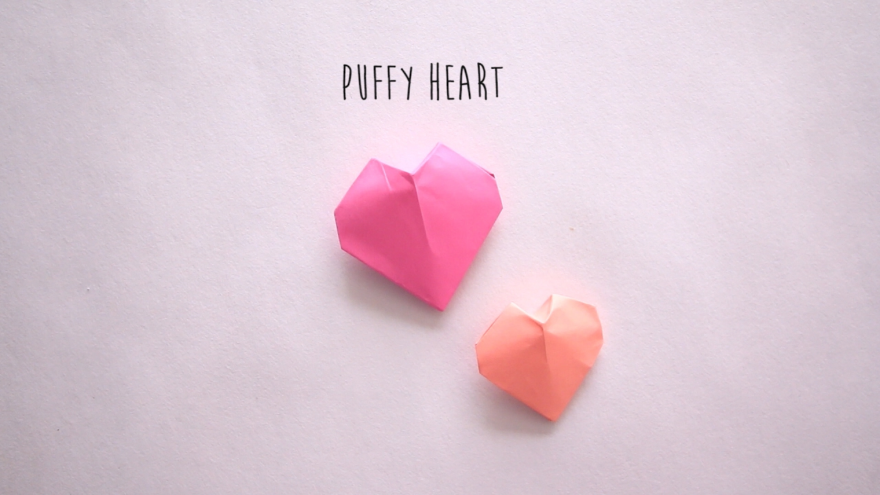 Puffy Heart Origami Diy Puffy Heart