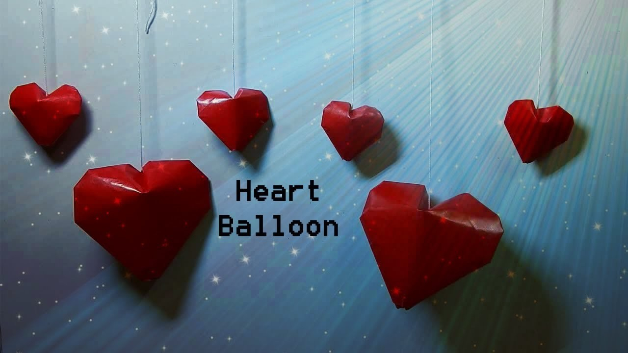 Puffy Heart Origami Origami 3d Heart Balloon Paper Puffy Heart Valentines Gift