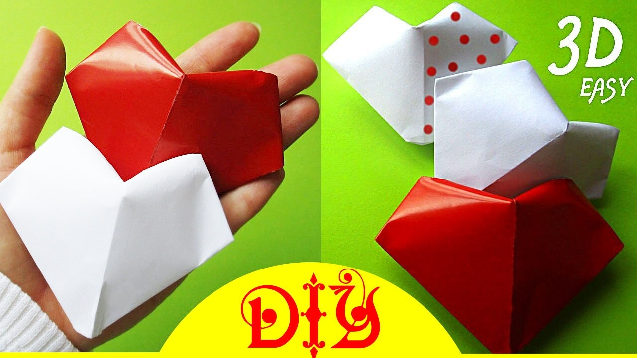 Puffy Heart Origami Origami How To Make A Paper Puffy Fold Heart 3d Diy
