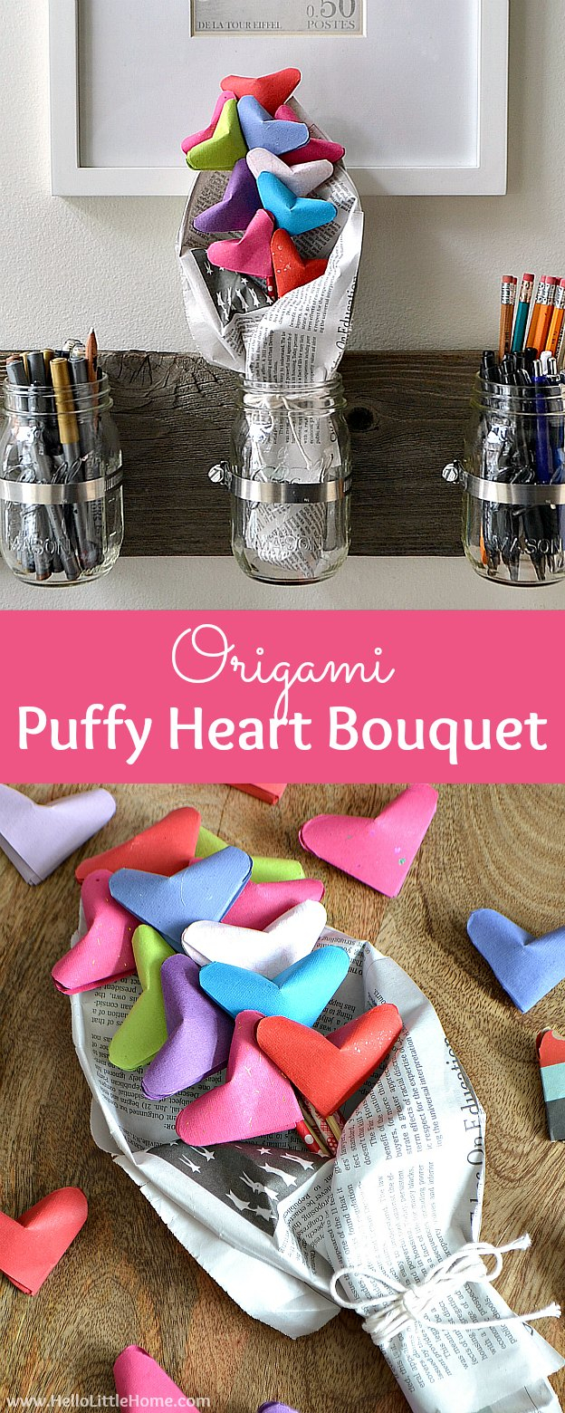Puffy Heart Origami Origami Puffy Heart Bouquet Valentines Day Gifts From Bambeco
