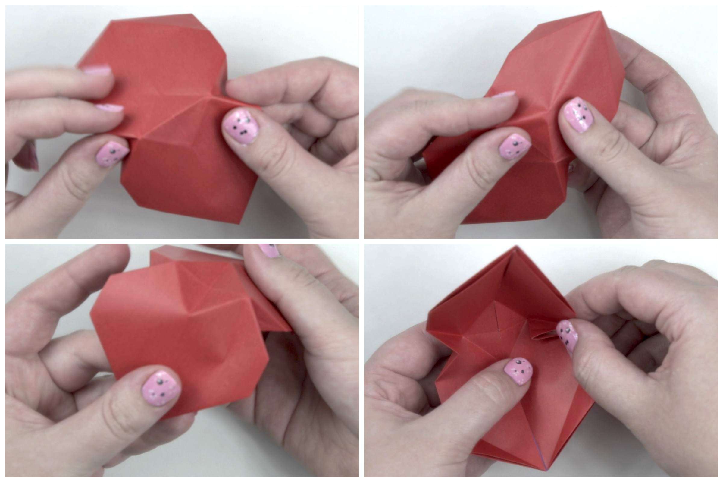 Puffy Heart Origami Origami Puffy Heart Instructions