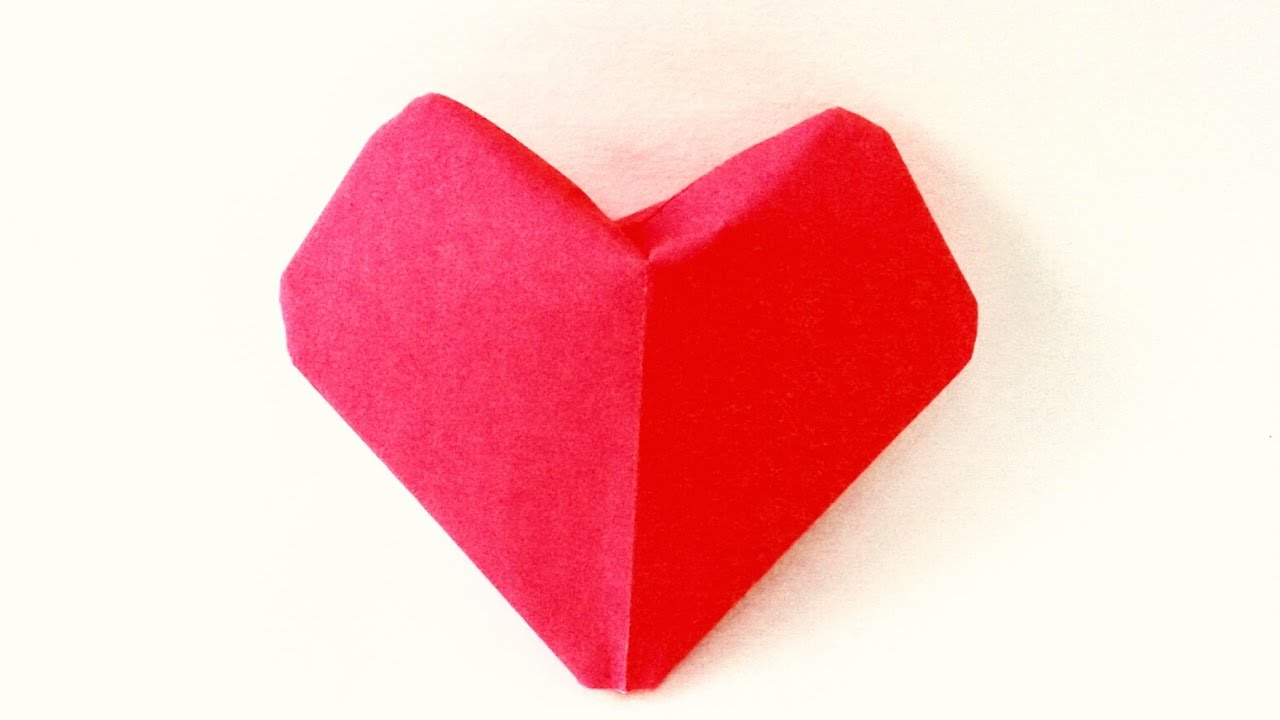 Puffy Heart Origami Origami Puffy Heart Instructions 3d Paper Heart Diy Valentines Day Ideas