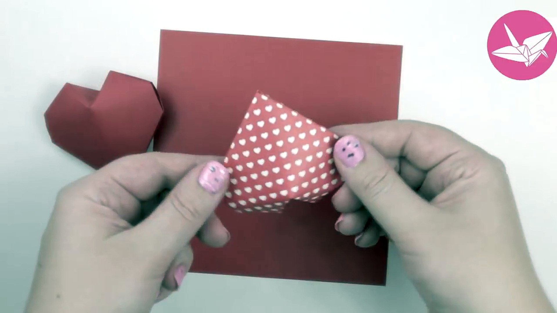 Puffy Heart Origami Origami Puffy Heart Instructions 3d Paper Heart Diy