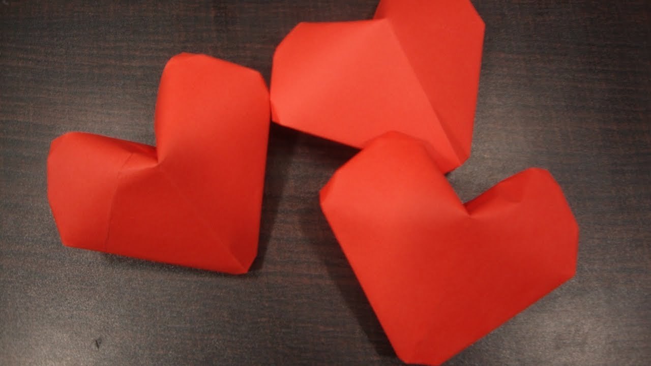 Puffy Heart Origami Origami Puffy Heart