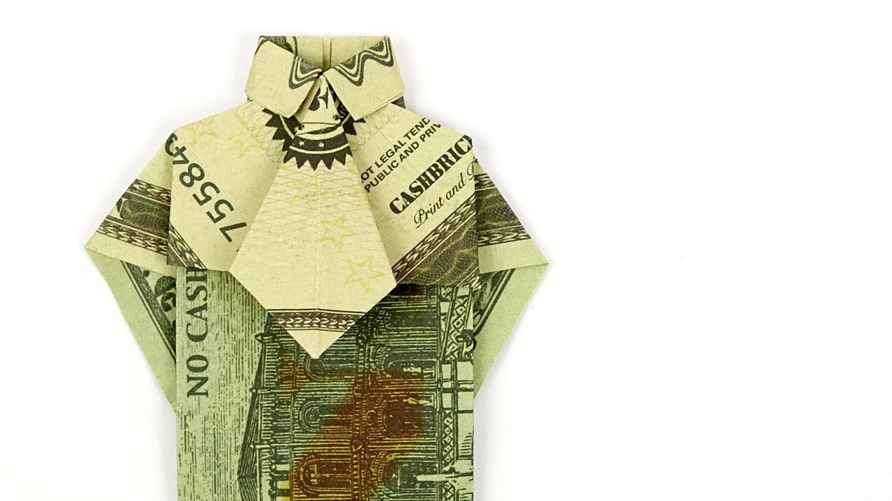 Shirt And Tie Money Origami Dollar Bill Origami Shirt And Tie Folding Money Origami Shirt 4k