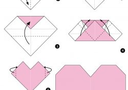 Simple Origami Instructions Origami Heart Instructions Free Printable Papercraft Templates