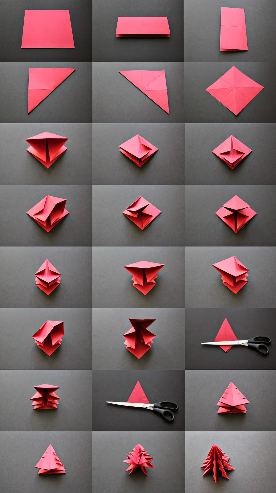 Origami Christmas Ornaments | 1600x896