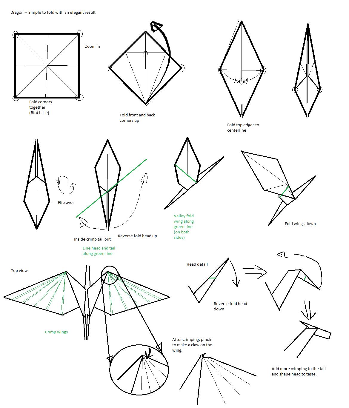 How to make an Origami HummingBird | Paper Bird Craft | Origami ... | 1367x1169