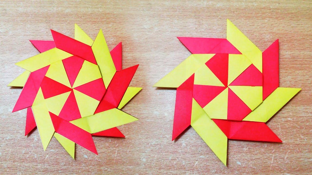 Video on How to Make an Origami Ninja Star (Shuriken) - Double ... | 720x1280