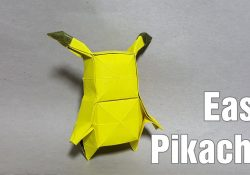 Easy Origami Pikachu Tutorial | Origami for kids animals, Origami ... | 175x250