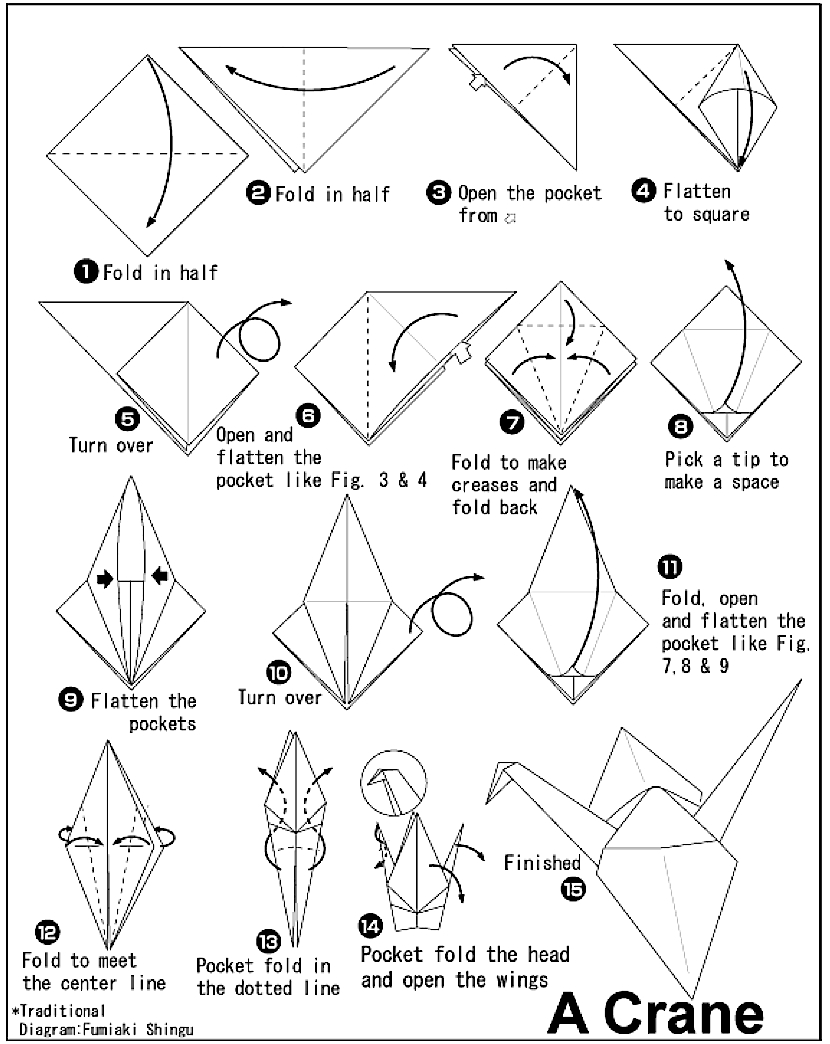 Origami Crane Easy Step By Step - All About Craft | 1044x830