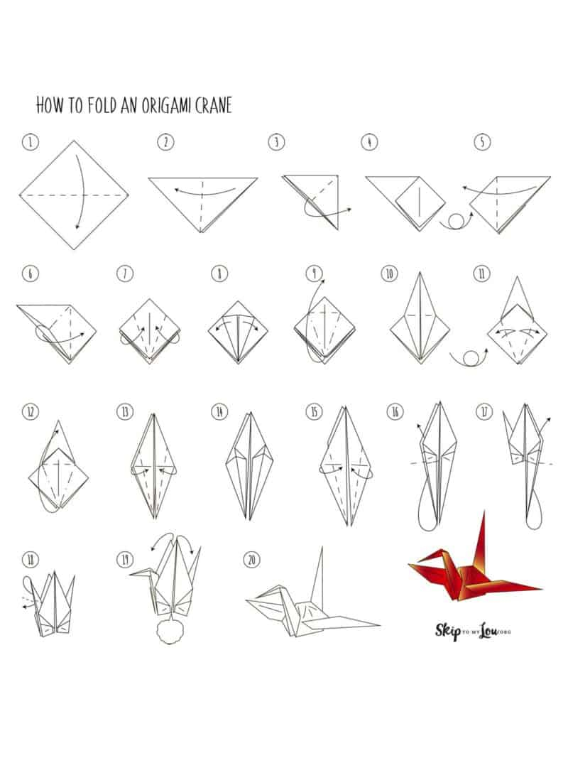 How to Make origami Crane Step by Step Instructions ...   1067x800