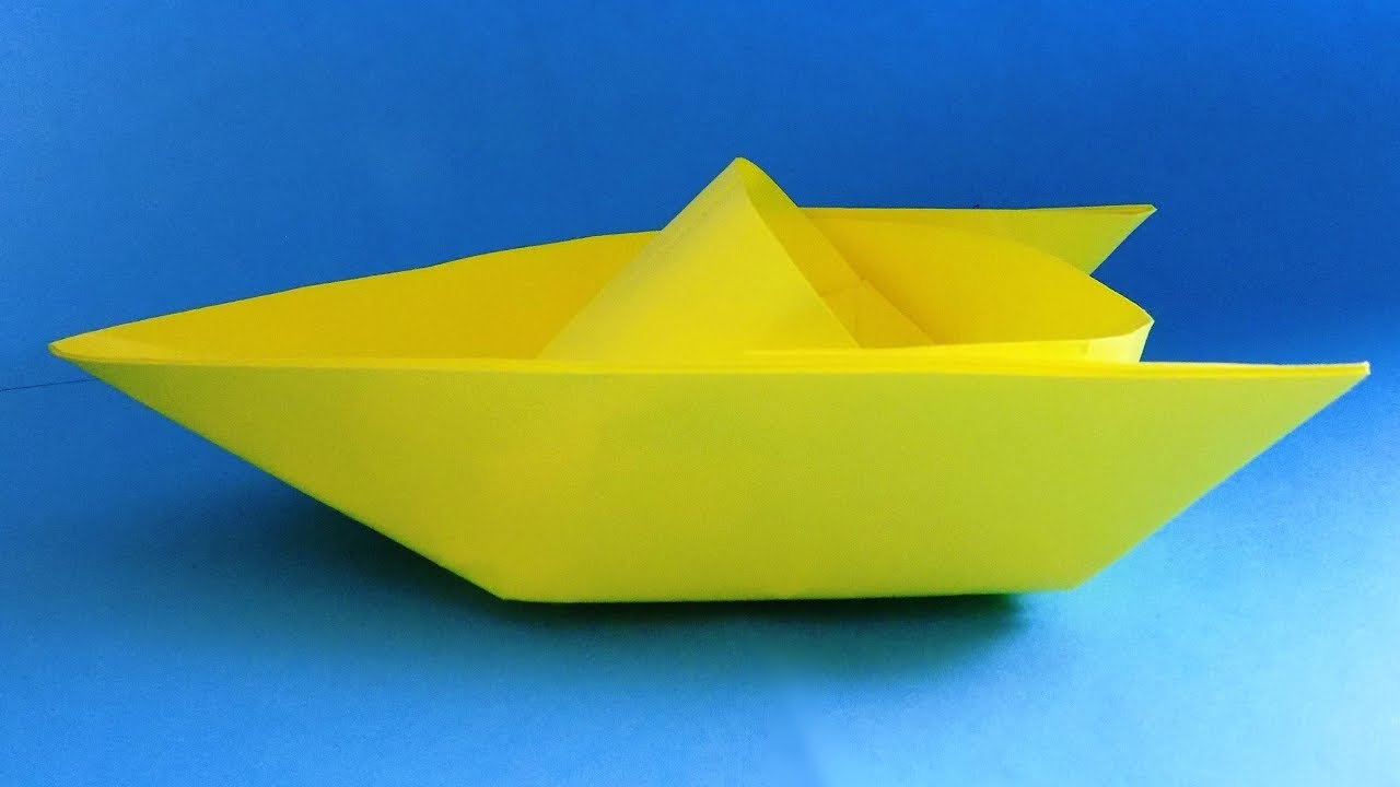 how to make a paper boat that floats in water for kids Origami ... | 720x1280